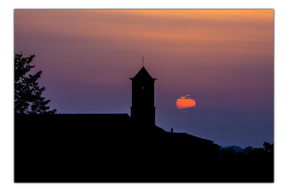 Letztes Licht in der Toskana