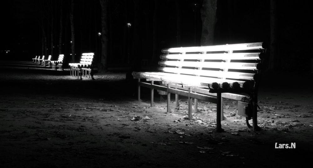 Leuchtbänke im Hofgarten (D,dorf)