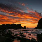 Leuchtende Wolken über dem Sugarloaf Rock