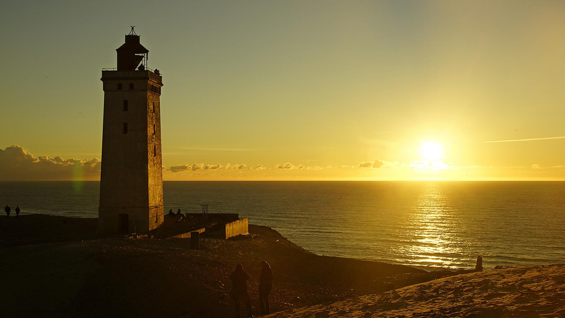 Leuchtturm am Abend