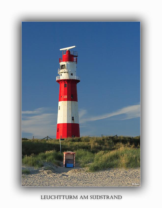 Leuchtturm am Südstrand von Borkum
