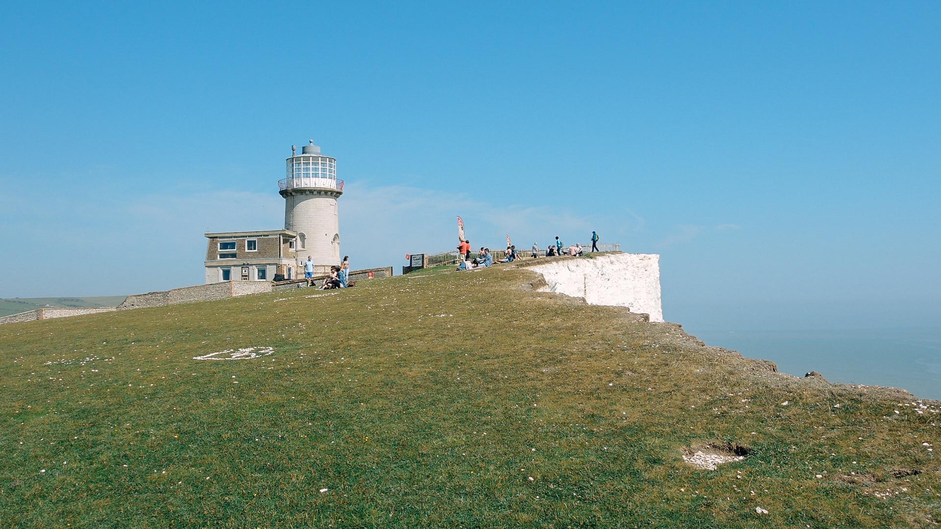 Leuchtturm bei Eastbourne Südengland 2014