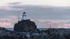 Leuchtturm bei STAMSUND, Lofoten (NOR)