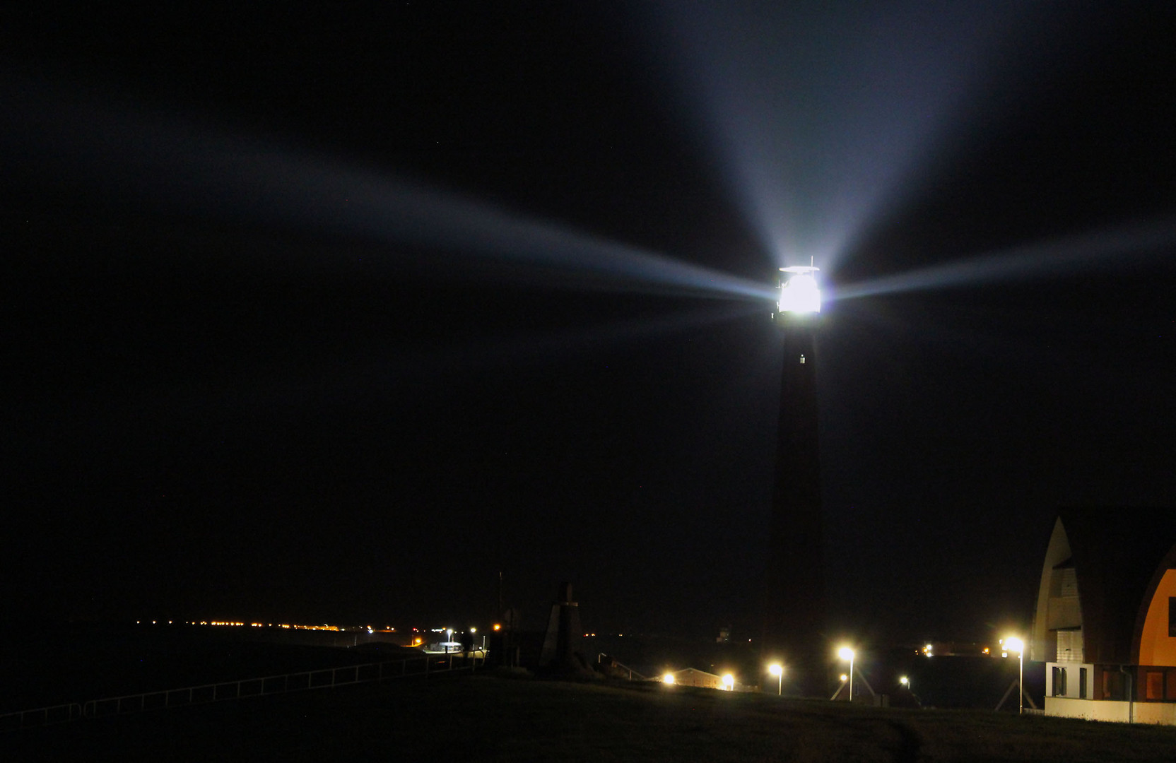 Leuchtturm Den Helder bei Nacht