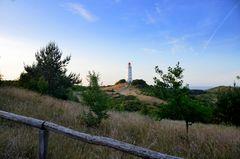 Leuchtturm Dornbusch am Abend