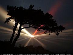 Leuchtturm Dornbusch in der Nacht