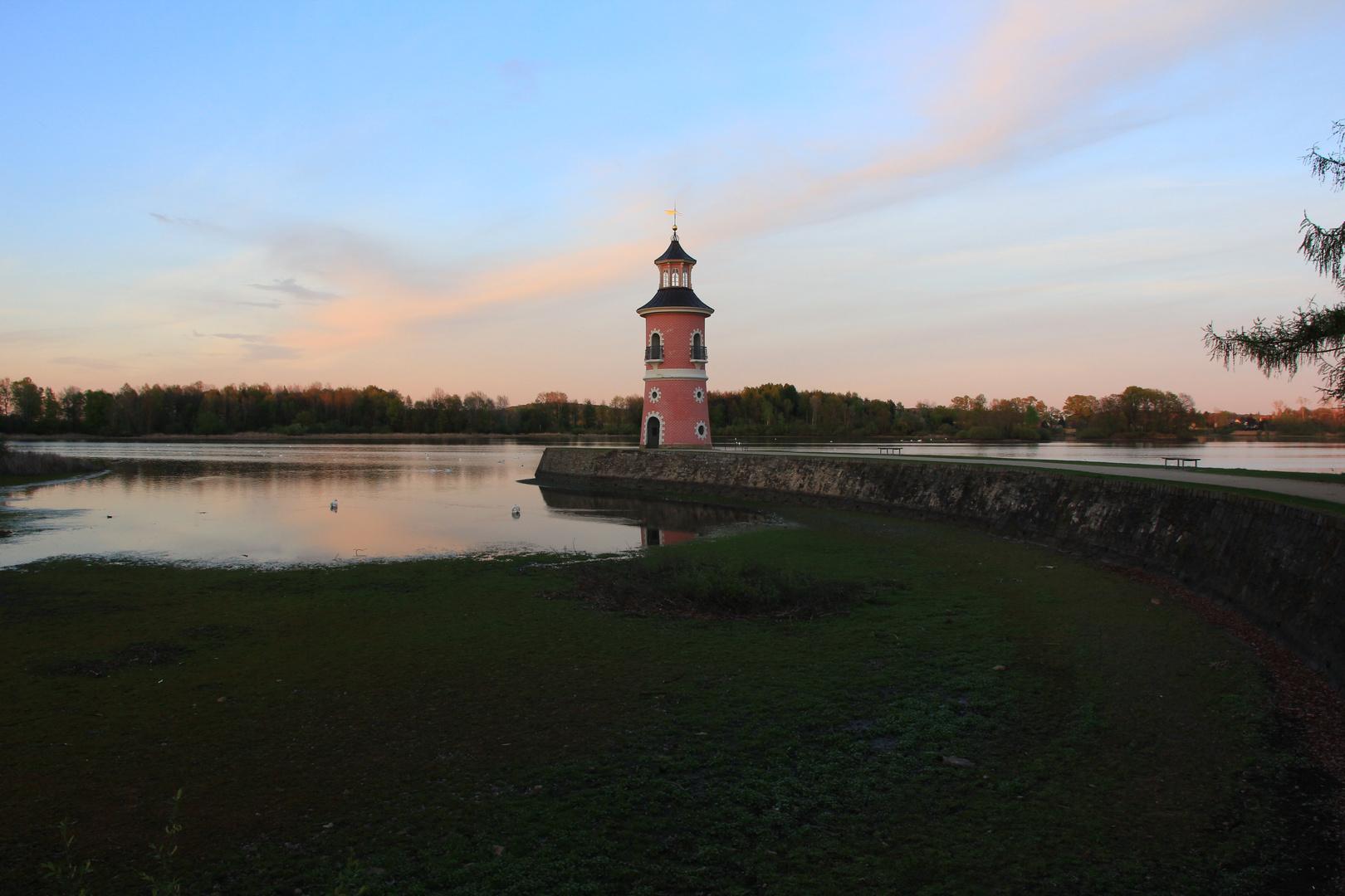 Leuchtturm (fast) trockengelegt
