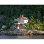 Leuchtturm im Haafen von Kristianssand Norwegen
