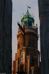 Leuchtturm im Holzrahmen