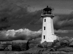 Leuchtturm in Peggys Cove, Nova Scotia, Kanada