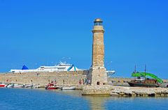 Leuchtturm in Rethymno auf Kreta