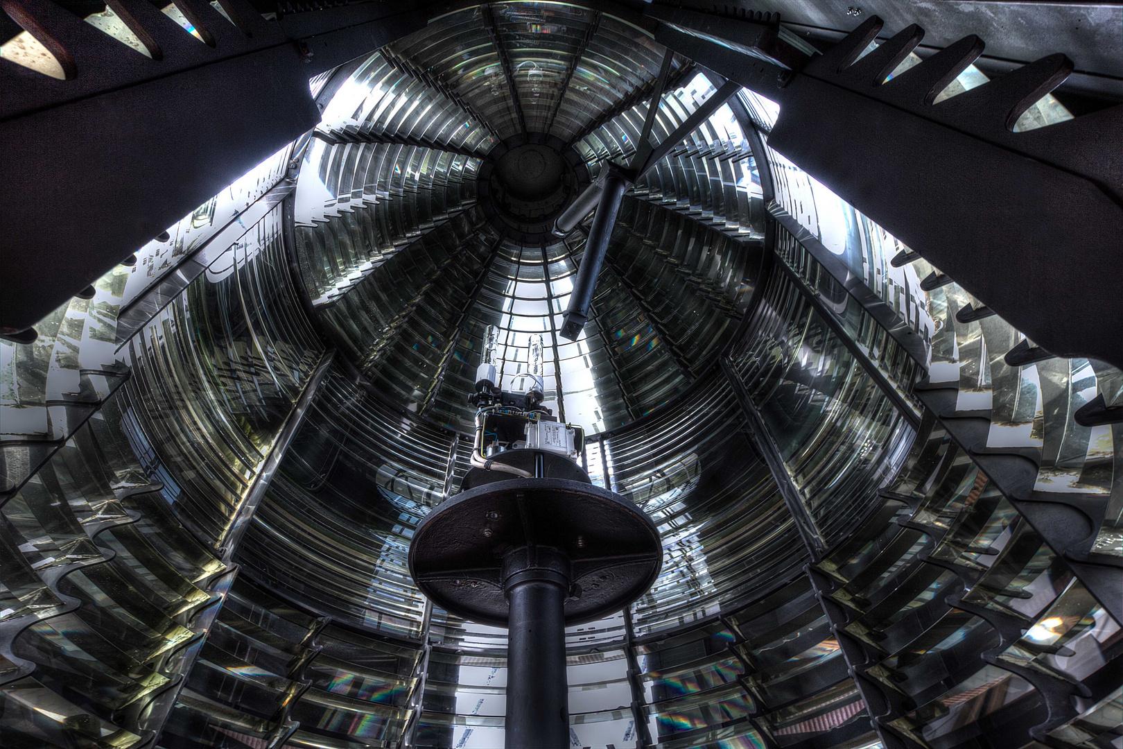 Leuchtturm Kampen - Optik und Leuchtfeuereinrichtung