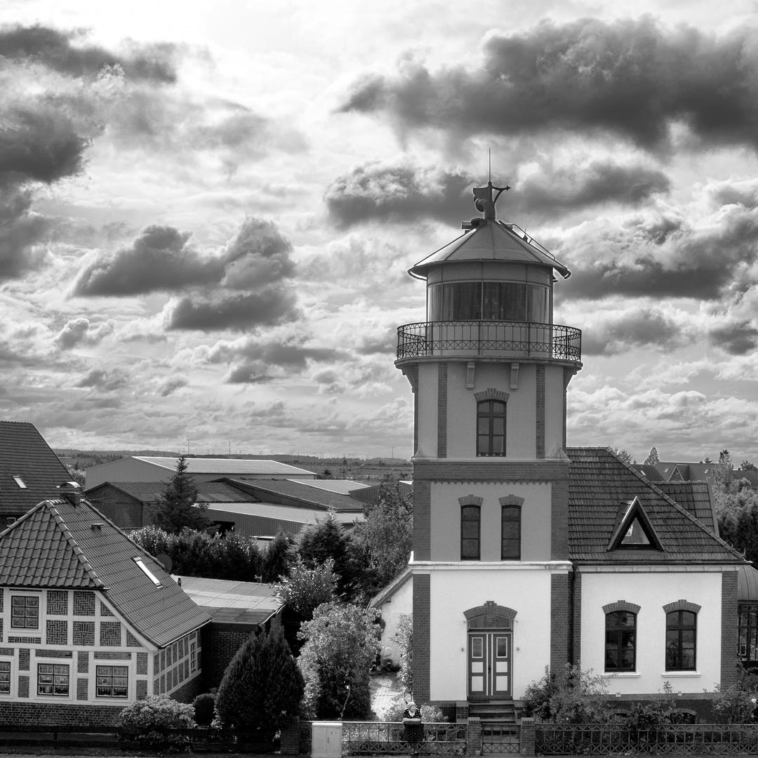 Leuchtturm Mielstack, Unterelbe bei Jork-Lühe