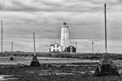 Leuchtturm mit Strickmuster