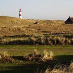 Leuchtturm Ostellenbogen Insel Sylt.
