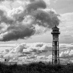 Leuchtturm Somfletherwisch im alten Land an der Unterelbe