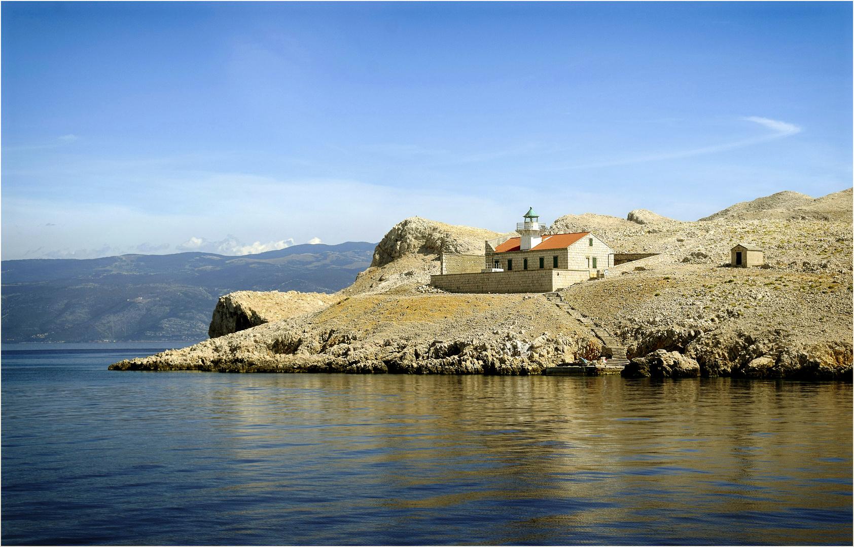 Leuchtturm von Otok Prvic
