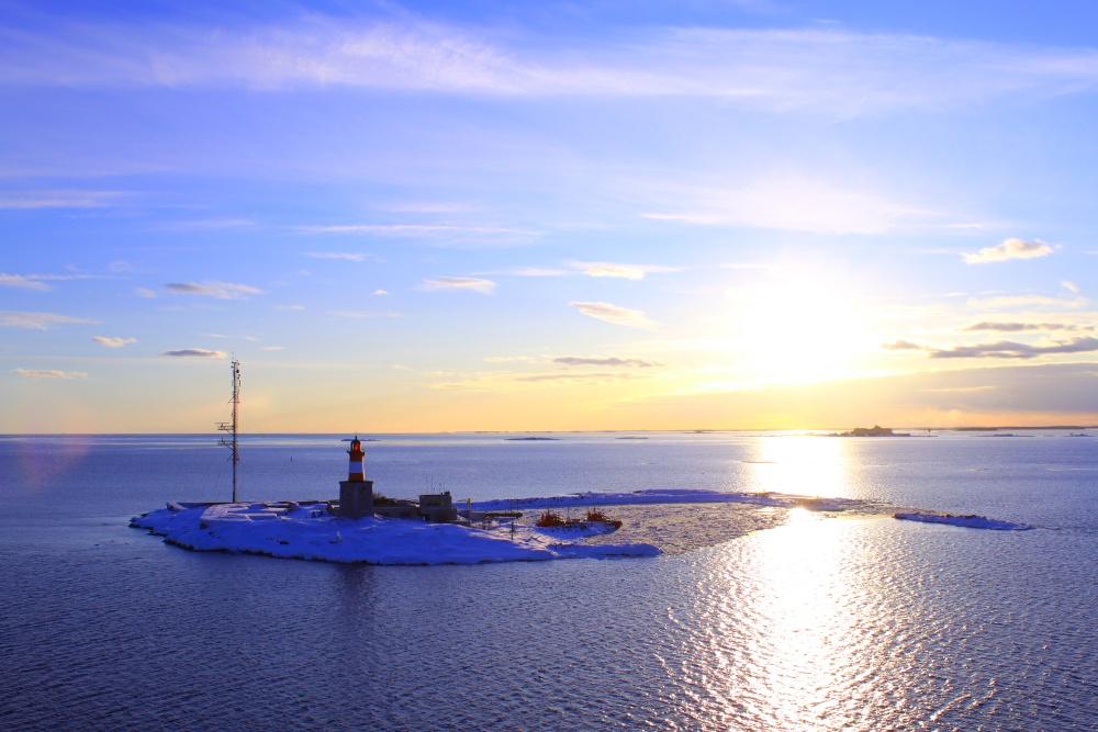 Leuchtturm vor Helsinki