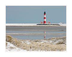 Leuchtturm Westerheversand - winterlich