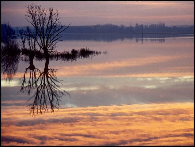 Lever de soleil sur le Loir