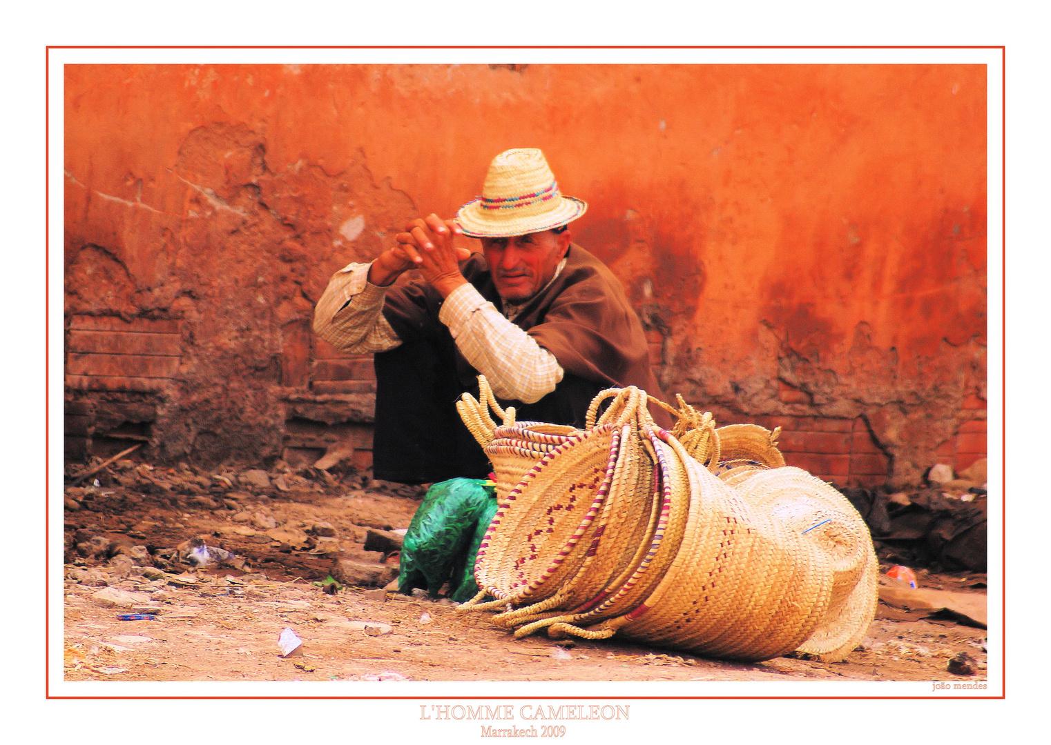 l'Homme Cameleon de marrakech!