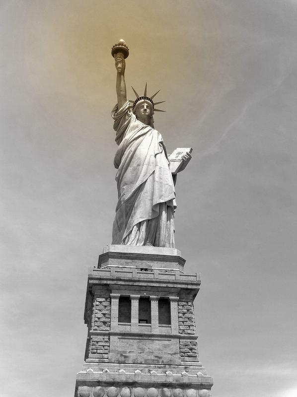 Liberty enlightens the world