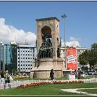 Liberty Monument in Taksim Square in Istanbul.2006