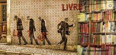libros y calles en Lisboa