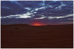 Libyan Sahara: sunset