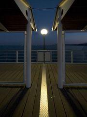Licht auf der Seebrücke Heringsdorf
