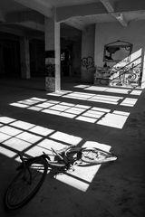 Licht & Schatten eines Fahrrades....