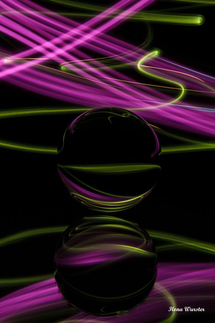 Licht und Farbe in der Glaskugel