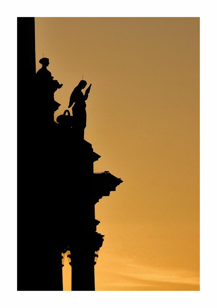 Licht und Schatten am Reichstag