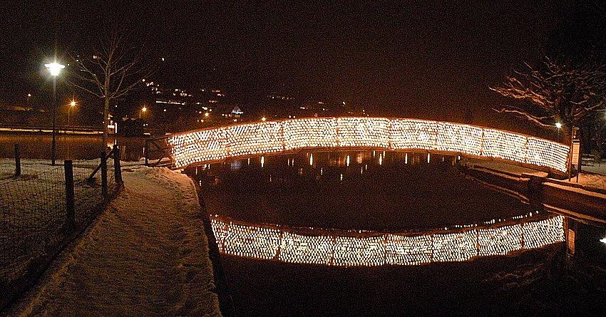 Lichtbrücke am Ägerisee