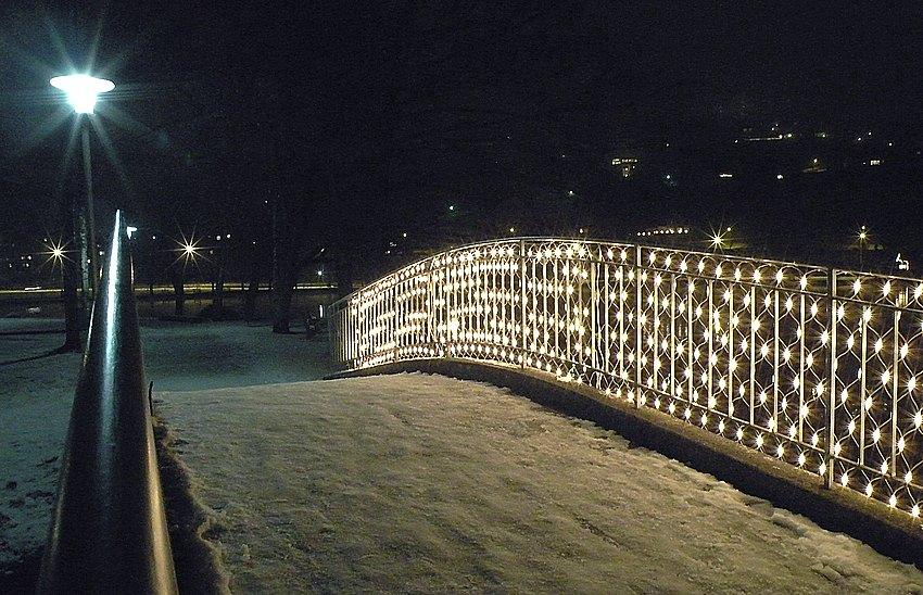 Lichtbrücke am Ägerisee ZG