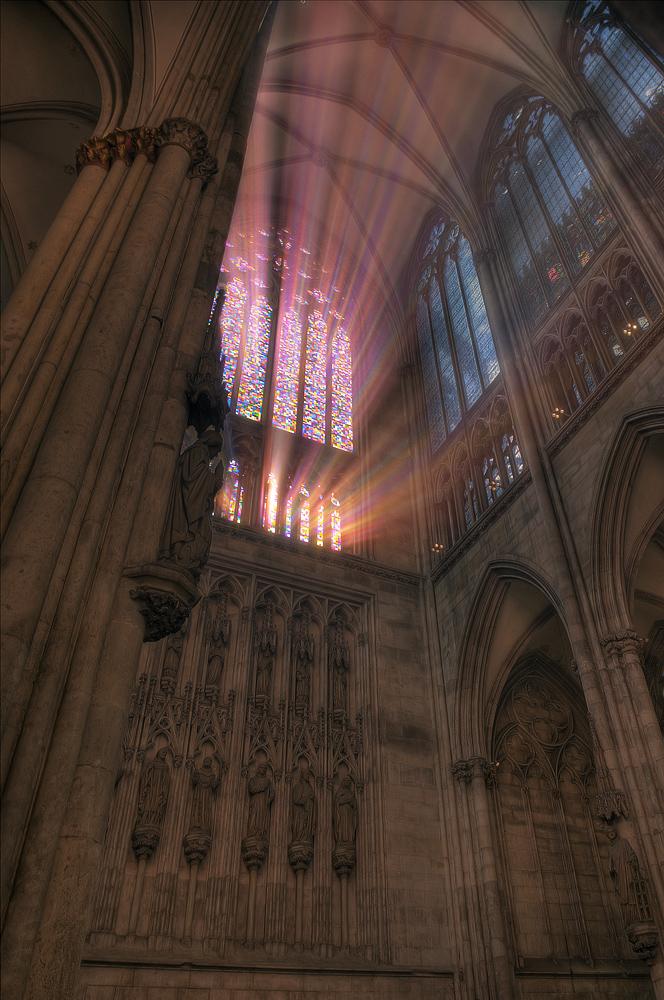 Lichteinfall im Kölner Dom