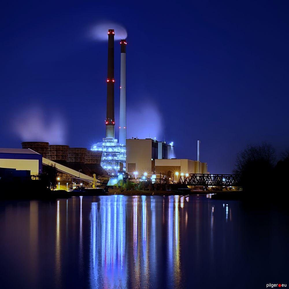 Lichter am Kanal - Kraftwerk Datteln