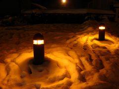 Lichter im Schnee