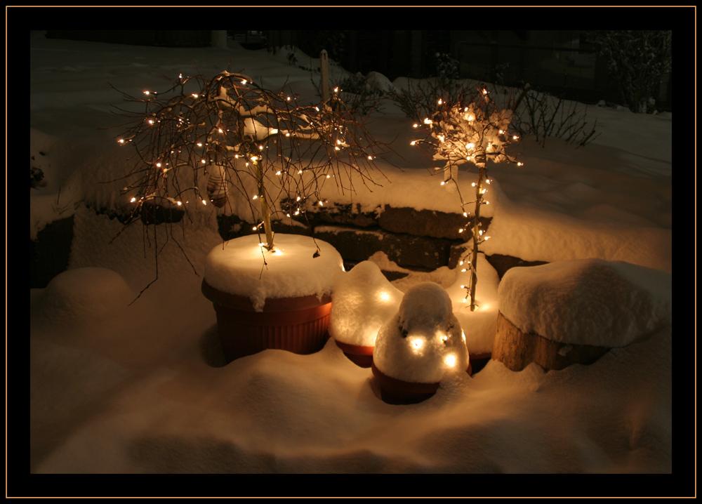 Lichter im Schnee / Vielen Dank Foto & Bild | jahreszeiten, winter ...
