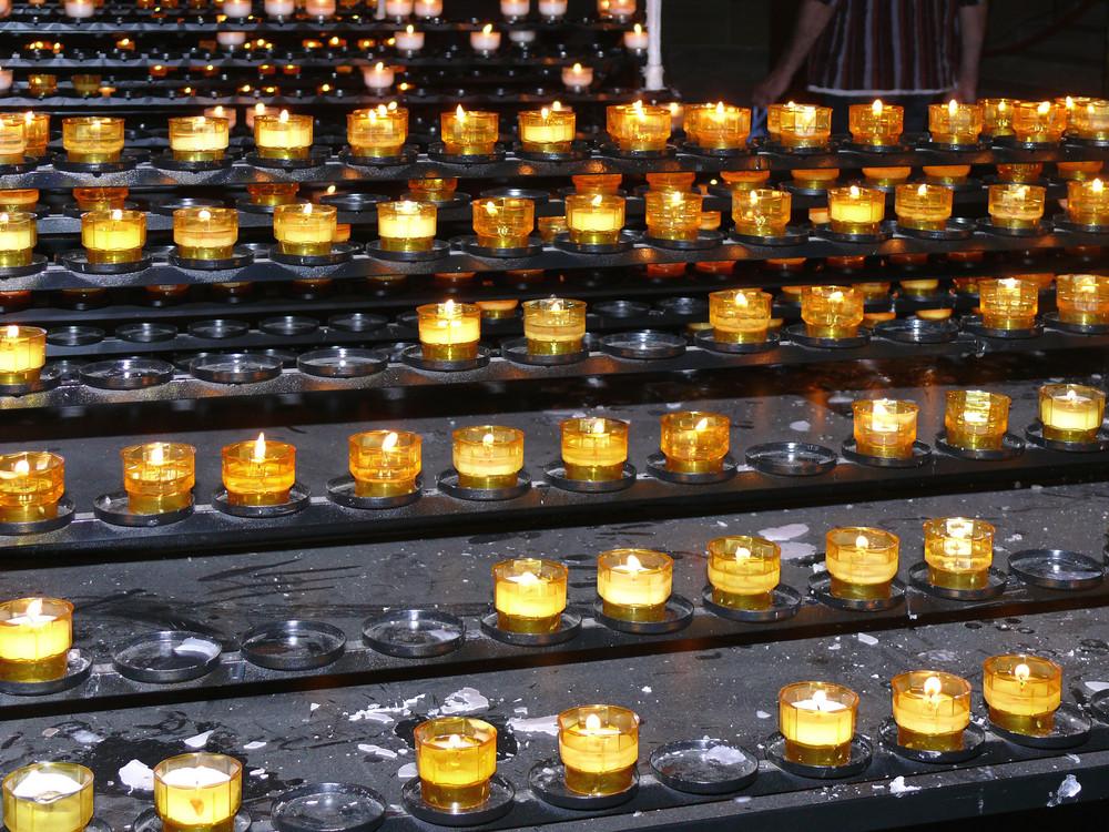 Lichter im Straßburger Münster