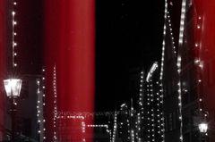 Lichter in der weihnachtlichen Stadt