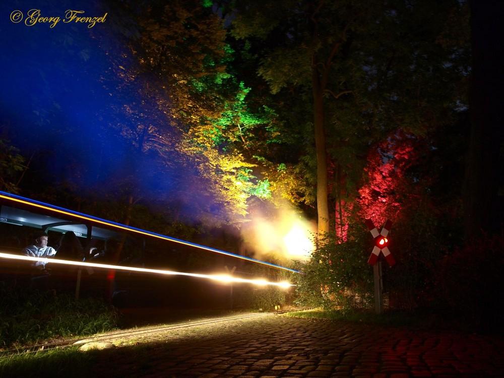 Lichterfahrten 2008 bei der Parkeisenbahn Dresden
