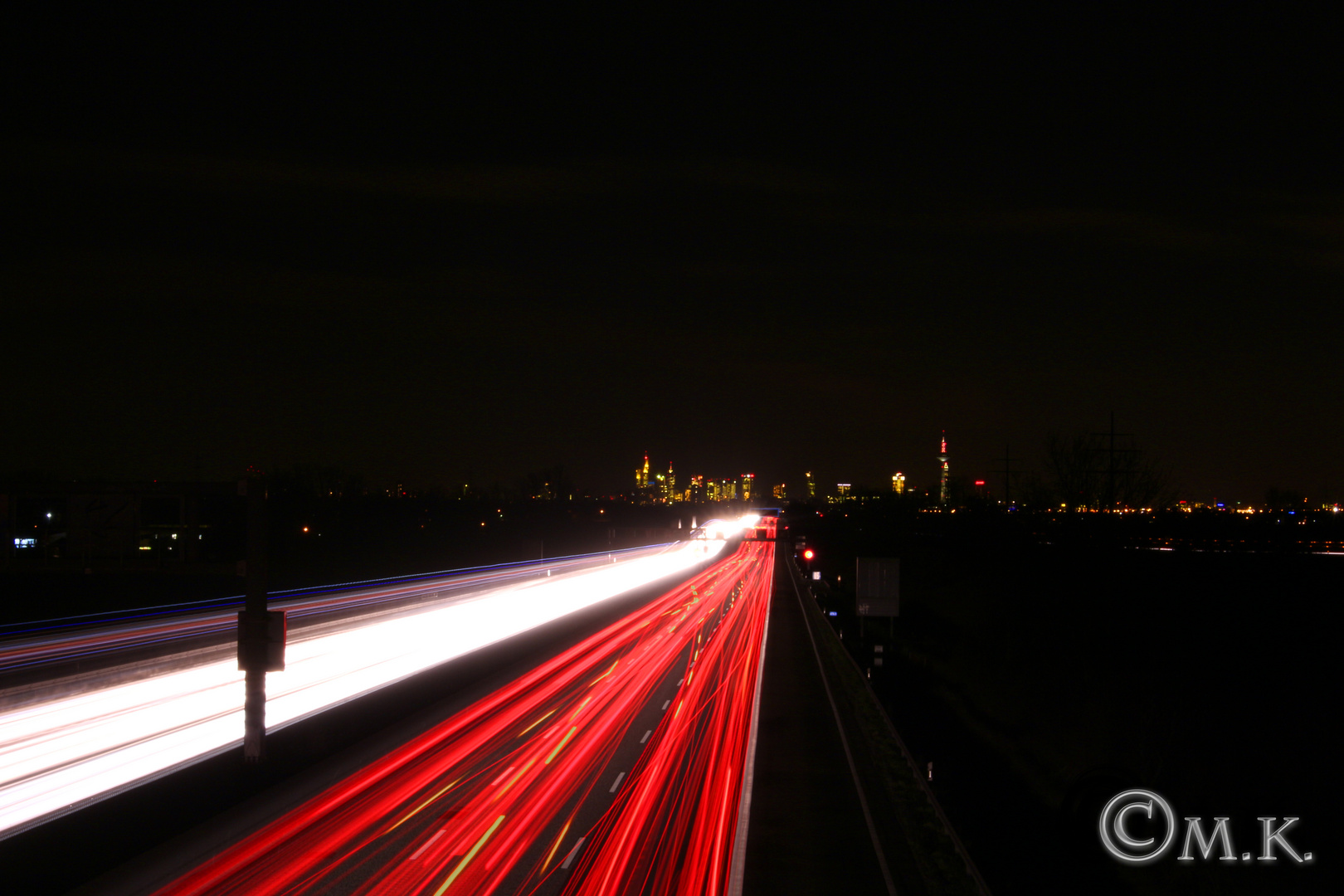 Lichterstrom nach Frankfurt