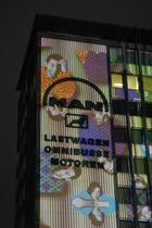 """Lichtinstallation """"Leuchtwerke"""", Essen-Kennedyplatz, 3.11.2006"""