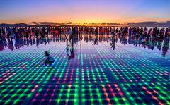Lichtinstallation Sonnengruß, Zadar, Dalmatien, Kroatien