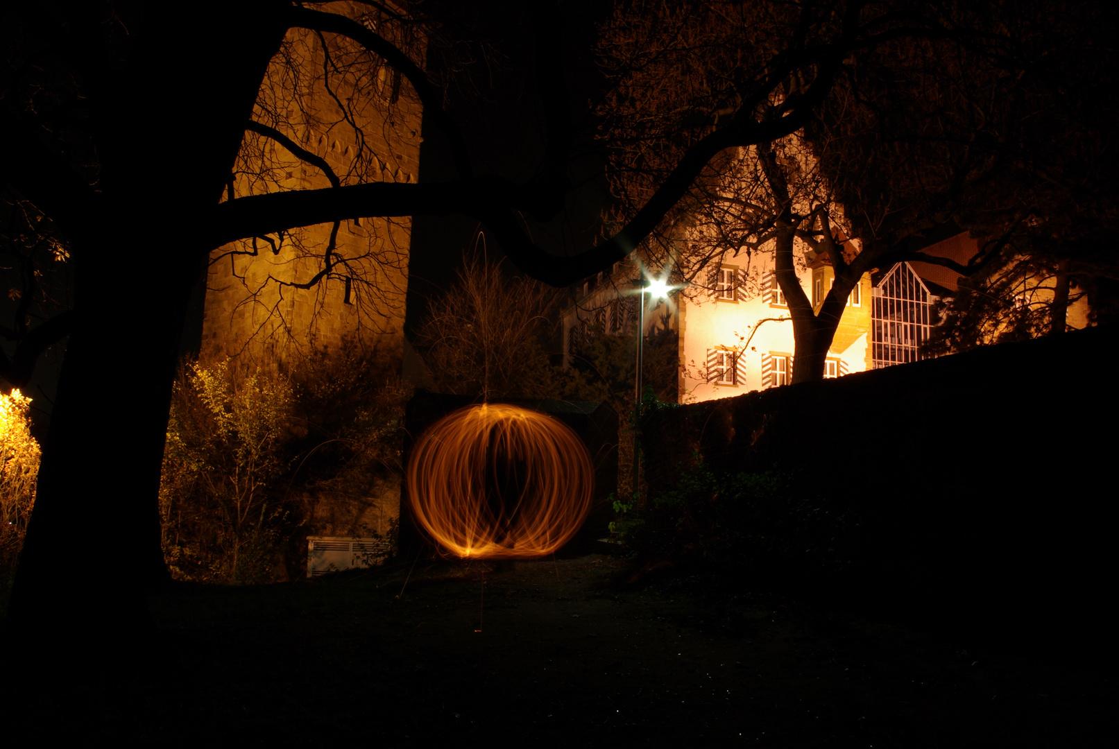 Lichtkugel am Zweiradmuseum