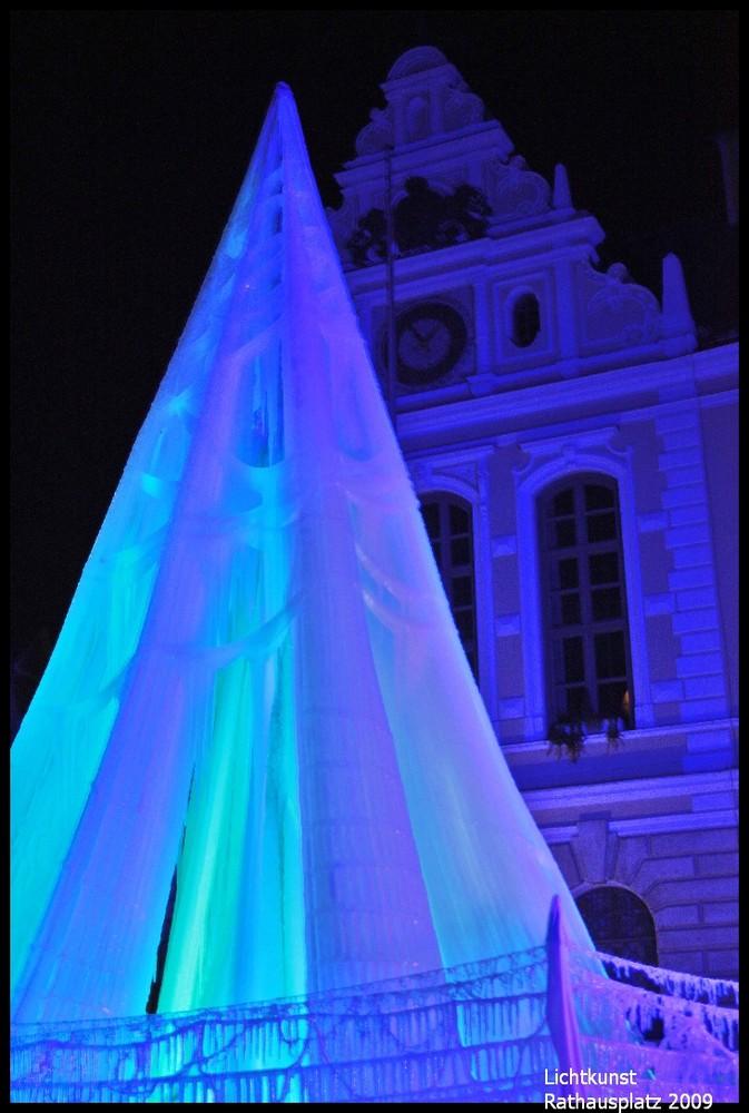 Lichtkunst am Rathausplatz Ingolstadt 2009