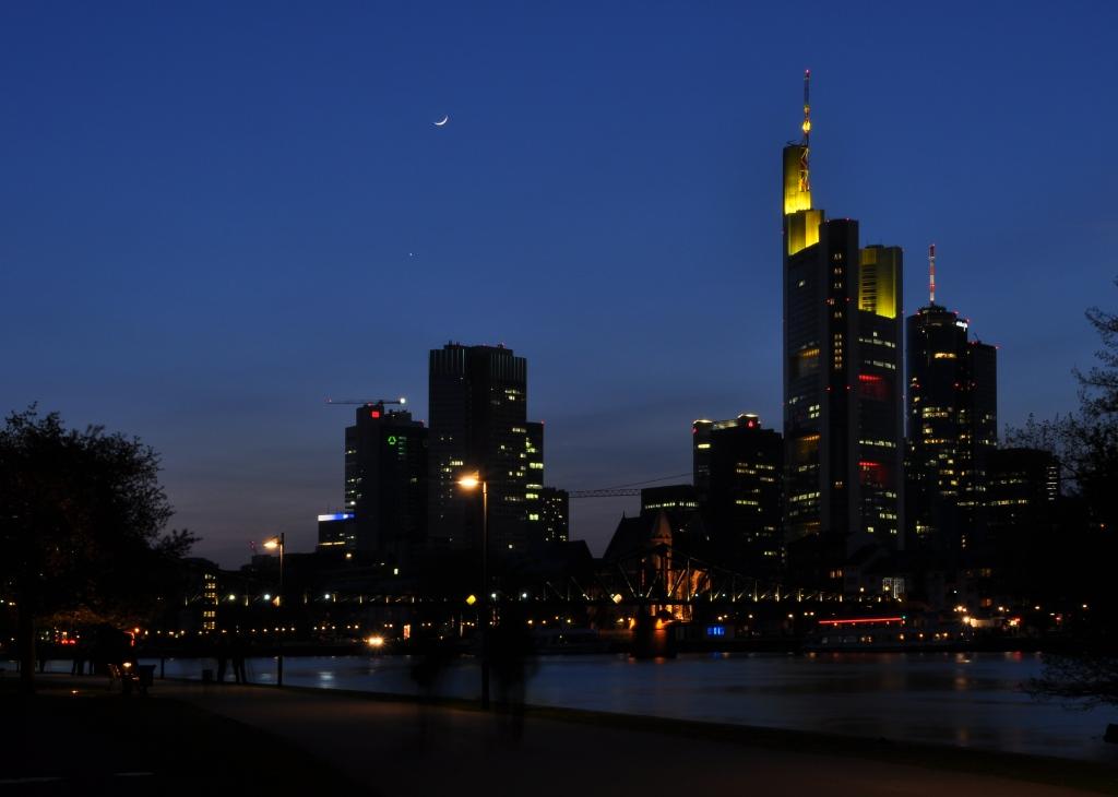 Lichtschauspiel in Frankfurt