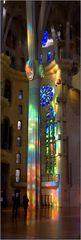 Lichtspiel in der Sagrada familia