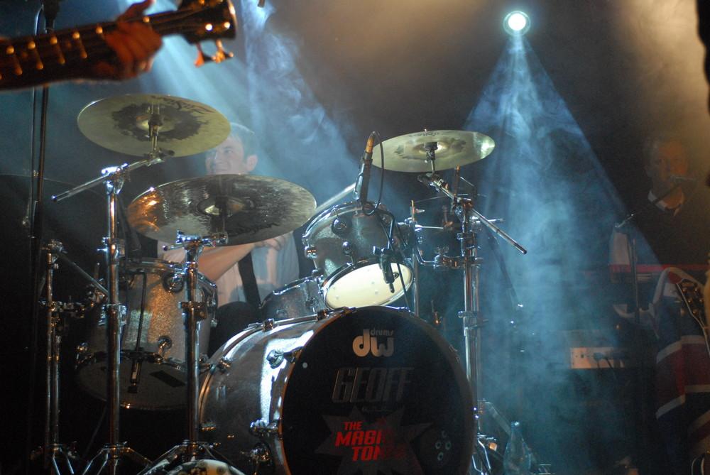 Lichtspiele am Schlagzeug